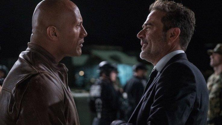 Kadr z filmu Rampage. Dzika furia, reż. Brad Peyton. Na zdjęciu Dwayne Johnson i Jeffrey Dean Morgan