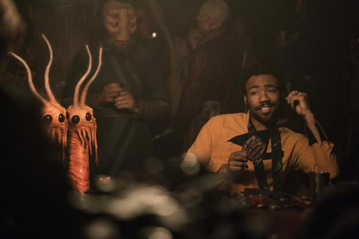 Donald Glover in Solo: A Star Wars Story, dir. Ron Howard