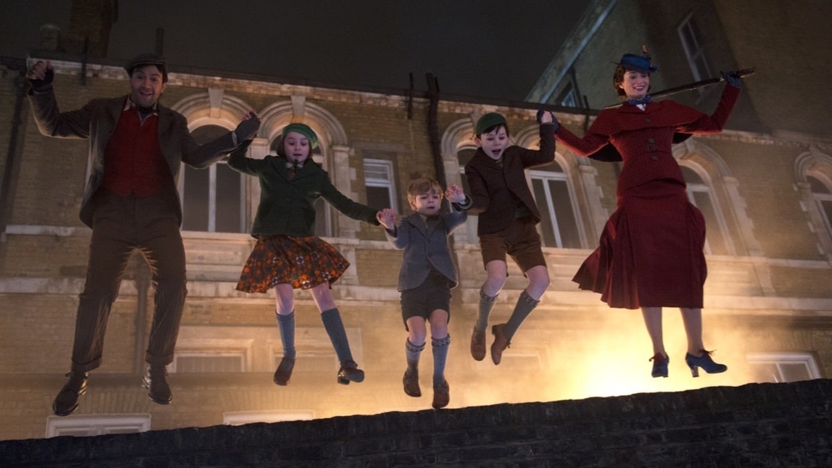 Kadr z filmu Mary Poppins powraca, reż. Rob Marshall